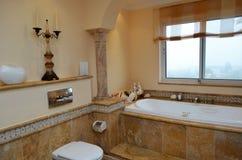 Luxury bathroom. Interior of a luxury bathroom stock image