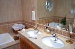 Luxury bathroom. Interior of a luxury bathroom stock photos