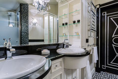 Luxury bathroom in baroque style Royalty Free Stock Photography