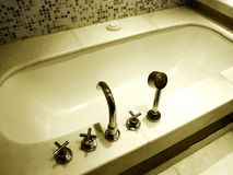 Luxury bathroom bath tub fittings Stock Photos