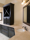 Luxury Bathroom with Cabinet on Counter Stock Photography