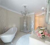 Luxury bathroom. Classic style Royalty Free Stock Image