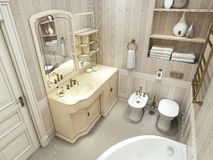 Luxury bathroom, classic style Royalty Free Stock Image