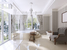 Luxury bathroom in classic style. Stock Photos