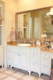 Luxury bathroom counter top Stock Photography