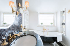 Luxury bathroom with crystal details Royalty Free Stock Image