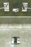 Luxury bathroom designed in modern style royalty free stock image