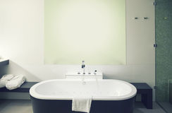 Luxury bathroom in hotel Royalty Free Stock Image
