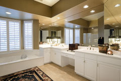 Luxury Bathroom In House Stock Photos