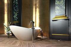 Luxury bathroom interior in classic style Stock Image