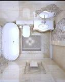 Luxury bathroom interior Stock Photos