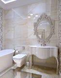 Luxury bathroom interior. 3d images Royalty Free Stock Photo