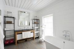 Luxury bathroom. Interior of luxury bathroom. Exclusive design royalty free stock image