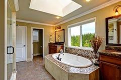 Luxury bathroom interior. Royalty Free Stock Photography