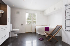 Luxury bathroom interior Stock Image