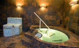 Luxury bathroom with jacuzzi stock photography