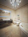 Luxury bathroom with jacuzzi Royalty Free Stock Photo
