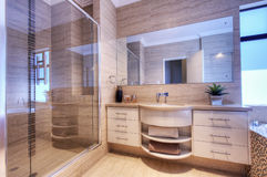 Luxury bathroom in modern home Stock Photos