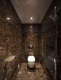 Luxury bathroom in a modern house. Interiors of a modern apartment, without furniture Royalty Free Stock Images