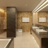 Luxury bathroom. Modern style Stock Images