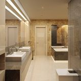 Luxury bathroom. Modern style Royalty Free Stock Photos