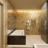 Luxury bathroom. Modern style Stock Image