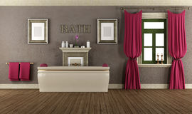 Luxury bathroom in old style Royalty Free Stock Image