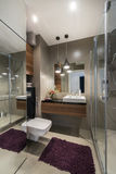 Luxury bathroom with shower Royalty Free Stock Photography