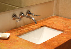 A luxury bathroom sink Royalty Free Stock Photography