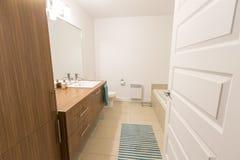 Luxury bathroom in a spacious house Stock Photos
