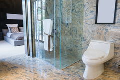 Luxury bathroom. Toilet in a luxury bathroom Royalty Free Stock Photography