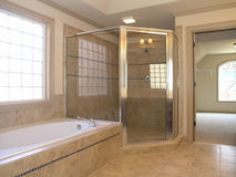 Luxury Bathroom Tub Shower Royalty Free Stock Images