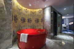 Luxury bathroom. With very nice decoration stock photos