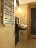 Luxury bathroom with vessel sink Stock Image
