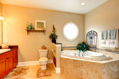 Luxury bathroom with whirlpool Royalty Free Stock Photo