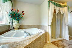 Luxury bathroom with whirpool Royalty Free Stock Images