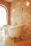 Luxury bathtub. Bathtub in a bathroom ., need that one for my royalty free stock images