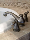 Luxury Bathtub Faucet side view Royalty Free Stock Images