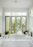 Luxury bathtub with windows Stock Image