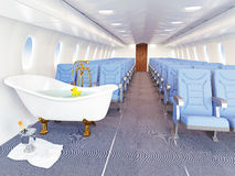 Luxury bathtube in airplane Stock Image