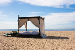 Luxury Beach Bed Royalty Free Stock Photos
