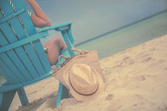 Luxury Beach Bum Royalty Free Stock Photos