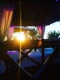 Luxury beach cabanas. Royalty Free Stock Images