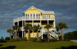 Luxury Beach House. Luxury home on the coast Stock Image