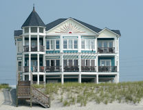 Luxury beach house. Coastal luxury home Royalty Free Stock Images