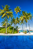 Luxury beach resort on an island Stock Images