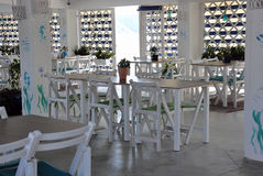 Luxury beach restaurant Royalty Free Stock Photos