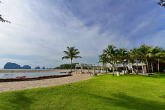 Luxury beach side resort facing the Andaman Sea Stock Images