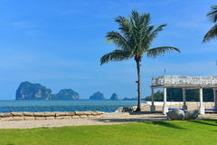 Luxury beach side resort facing the beautiful Andaman Sea Royalty Free Stock Photo