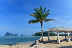 Luxury beach side resort facing the beautiful Andaman Sea Stock Photography